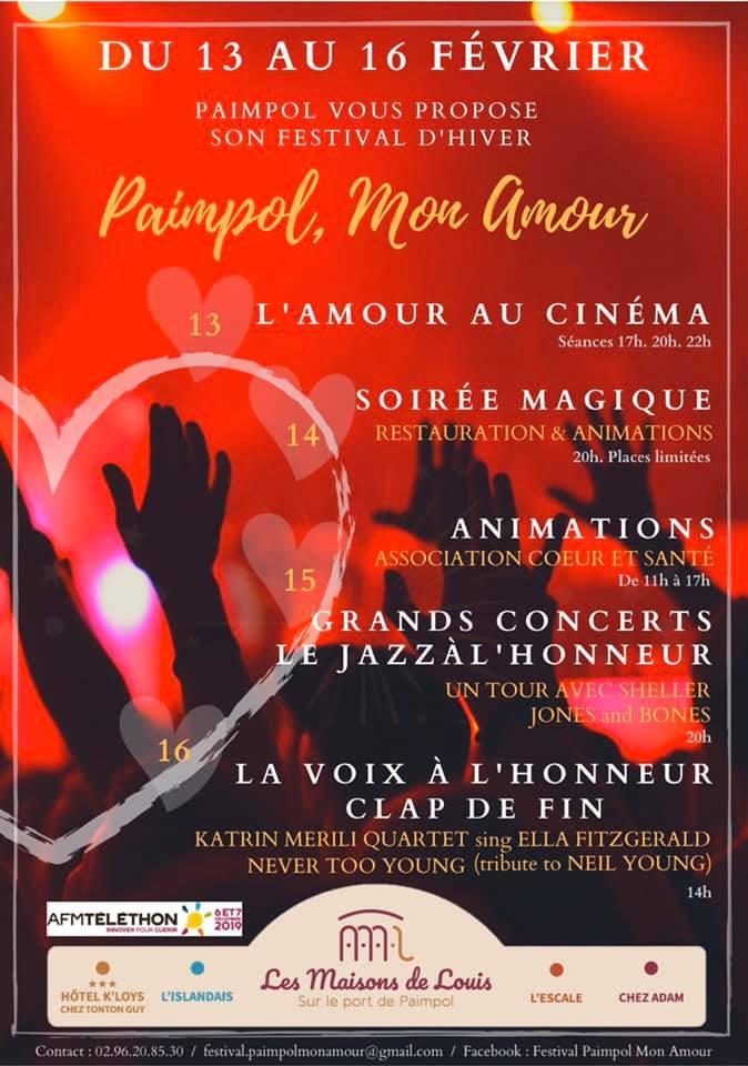Affiche du programme du festival d'hiver de Paimpol