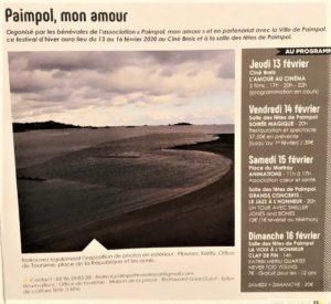 FESTIVAL PAIMPOL MON AMOUR PROGRAMME article MAGAZINE MUNICIPAL
