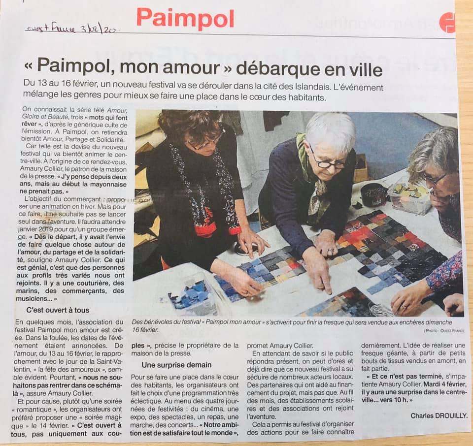 Article Ouest France 3 février 2020