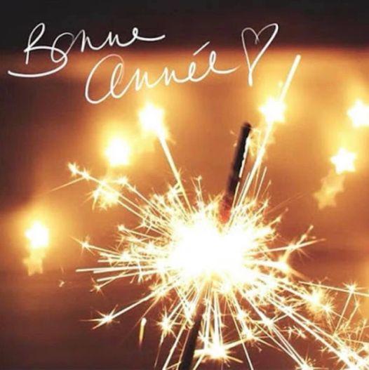 Bonne année ! Etincelles qui brulent