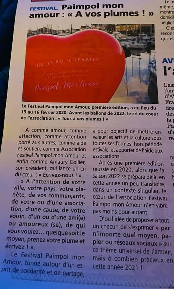 Article de la Presse d'Armor du 4 février 2021