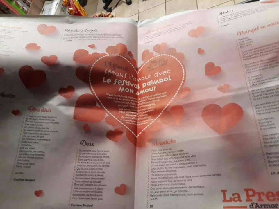 Article de la presse d'Armor du 10 février, le festival de Paimpol mon amour.