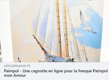 Annonce de la cagnotte en ligne pour le soutien de la fresque Festival Paimpol Mon Amour